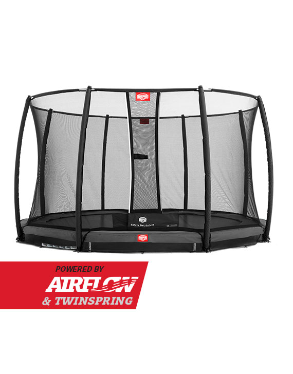 BERG InGround Champion Grey 380 + Safety Net Deluxe