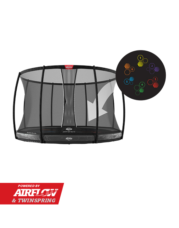 BERG Elite InGround 430 Grey Levels + Safety Net DLX XL