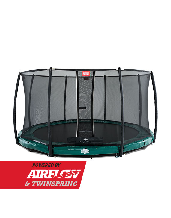 BERG InGround Elite Green 380 + Safety Net Deluxe