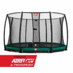 BERG InGround Champion Green 380 + Safety Net Deluxe