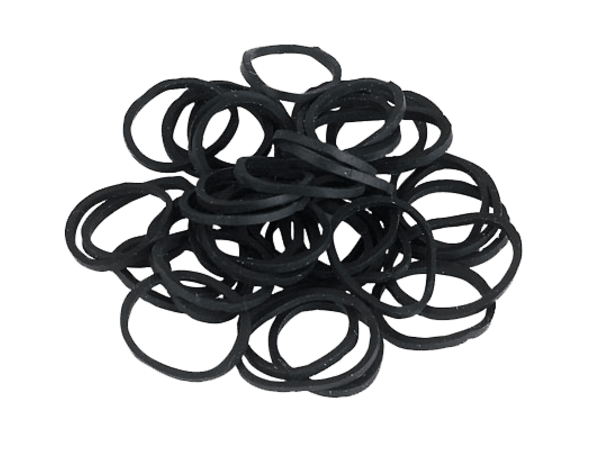 Elastiekjes rubber zwart