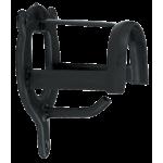 Halsterhouder metaal zwart