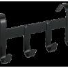 Halsterhouder metaal met 4 ophanghaken zwart