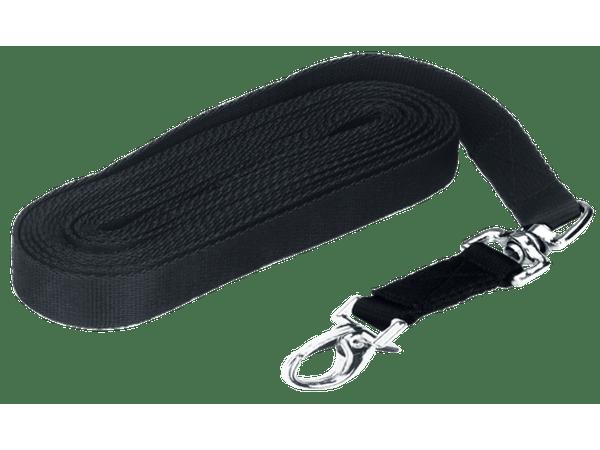 Longeerlijn lux zwart met muskuton