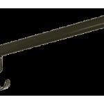 Zadelhouder 44cm rond metaal zwart