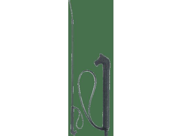 Rijzweep 90cm zwart met paardenhoofdgreep